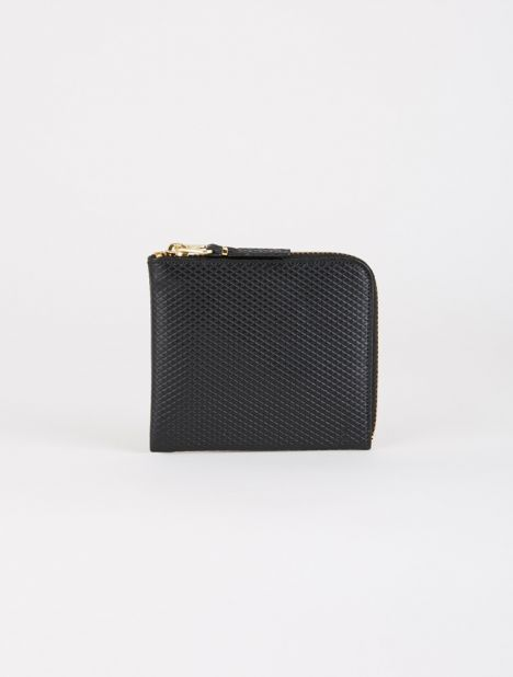 Luxury Leather Half Zip Wallet