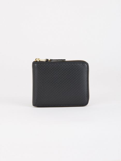 Luxury Leather Zip Wallet - Black