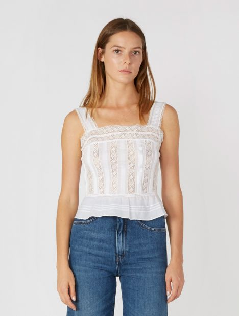 Maci Cotton Lace Cami