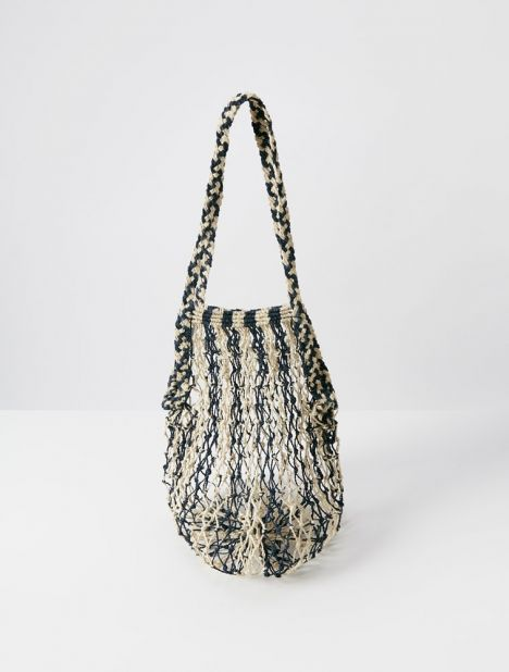 Macramé Filet Bag - Stripe