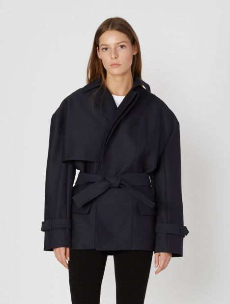Le Manteau Carini Short Trench Jacket