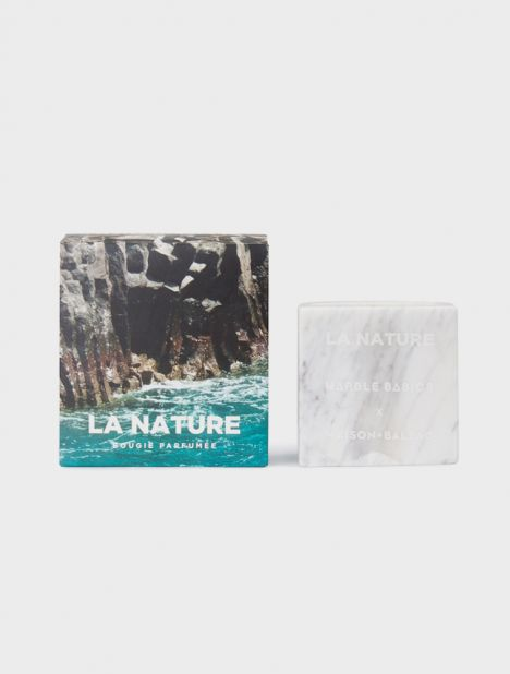 La Nature Large Marble Candle