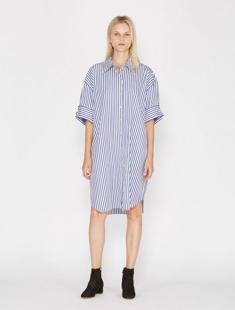 Oversized Stripe Shirtdress