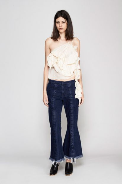 Ruched Denim Jean