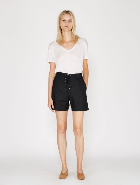Lace Up Linen Short