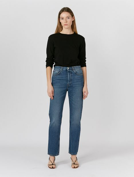 "Ease Mid-Rise Loose Jean 30"" - Washed Blue"