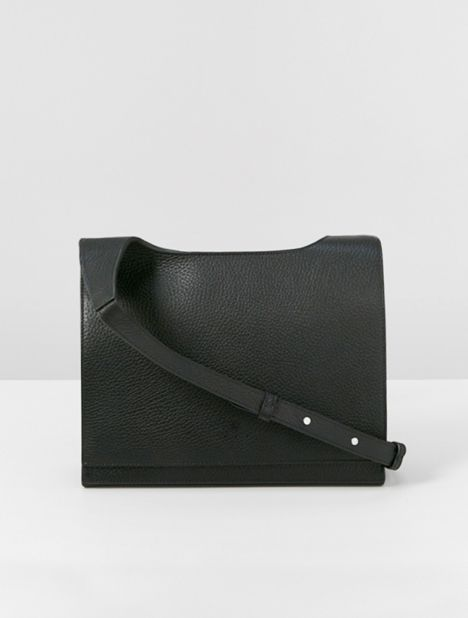 Messenger Grained-Leather Crossbody Bag