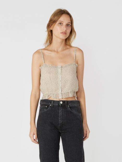 Millie Silk Crop Top
