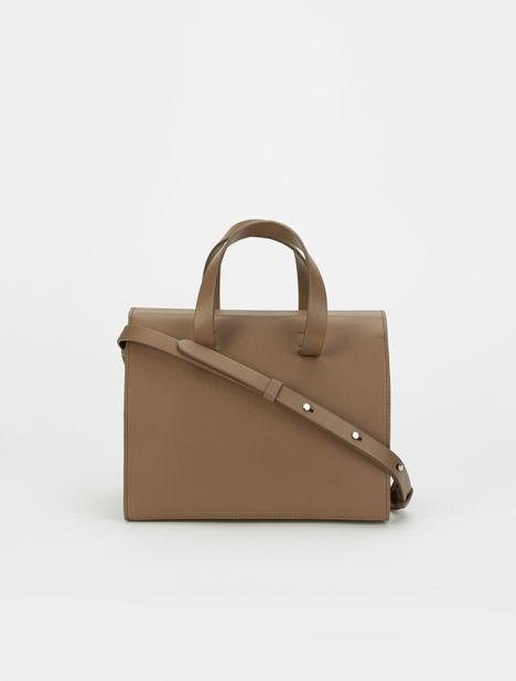 Mini Barrel Leather Bag - Otter