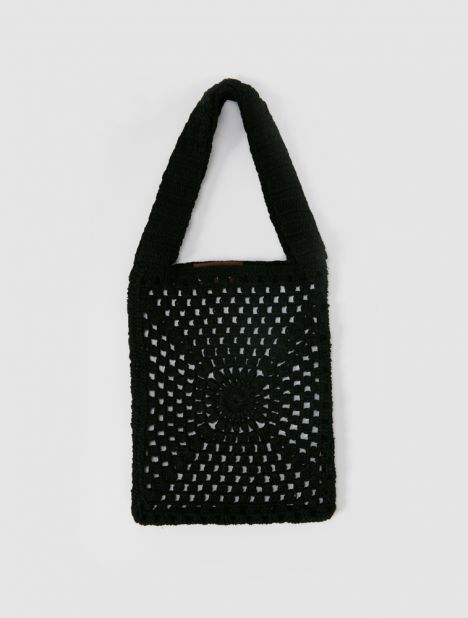 Necto Mini Crochet Bag - Black