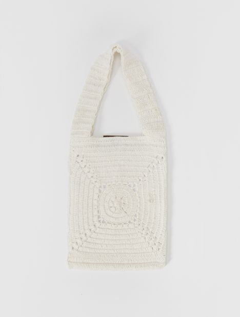 Necto Mini Crochet Bag - Cream
