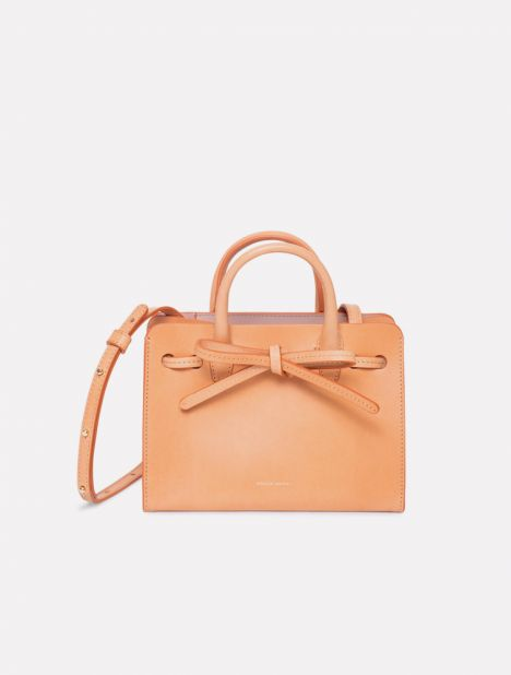 Sun Mini Mini Leather Bag - Cammello / Antico