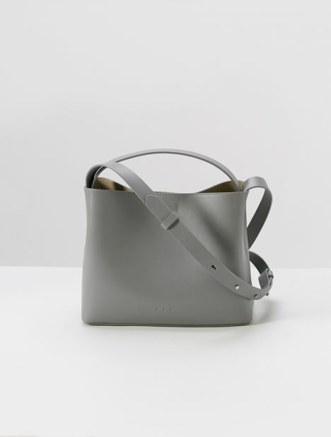 Mini Sac Leather Tote Bag - Dove