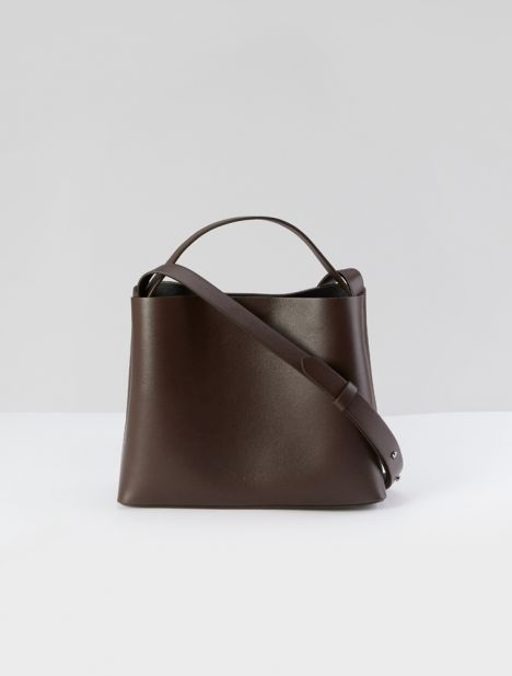 Mini Sac Leather Tote Bag - Espresso