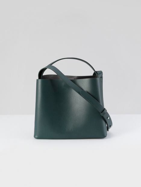 Mini Sac Leather Tote - Jungle Green