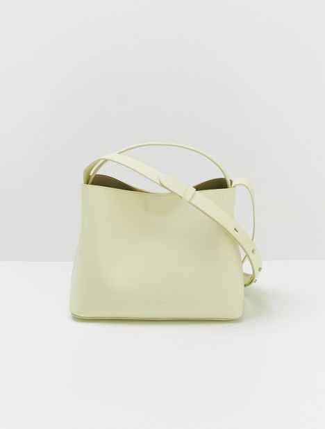 Mini Sac Leather Tote Bag - Off Lime