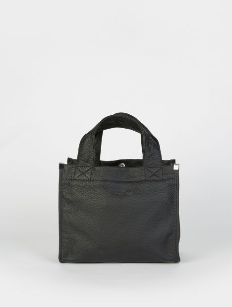 Mini Leather Tote - Black