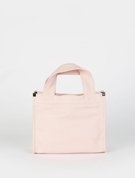 Mini Leather Tote - Pink