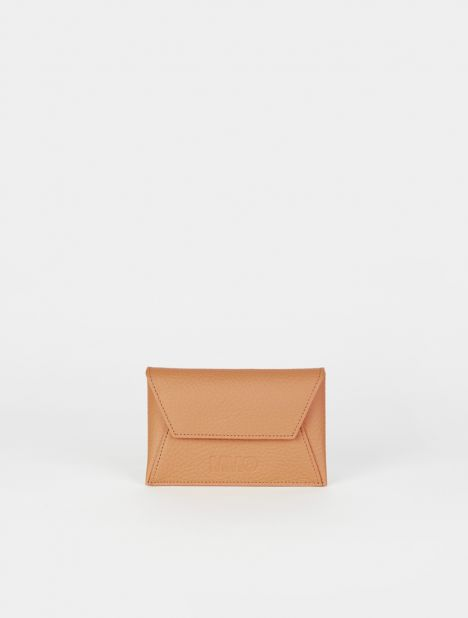 Small Leather Envelope Wallet - Camel