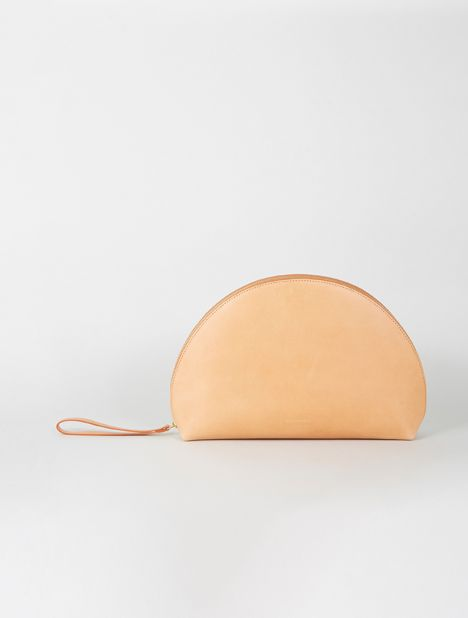 Moon Leather Clutch - Cammello