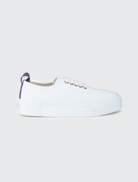 Mother White Canvas Sneaker