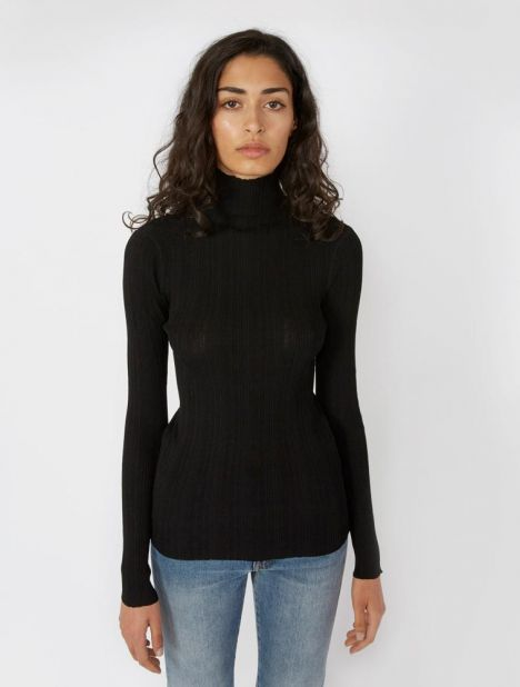 Narano Ribbed Turtleneck Top