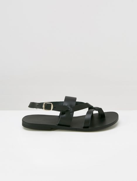 Nyx Leather Sandal - Black