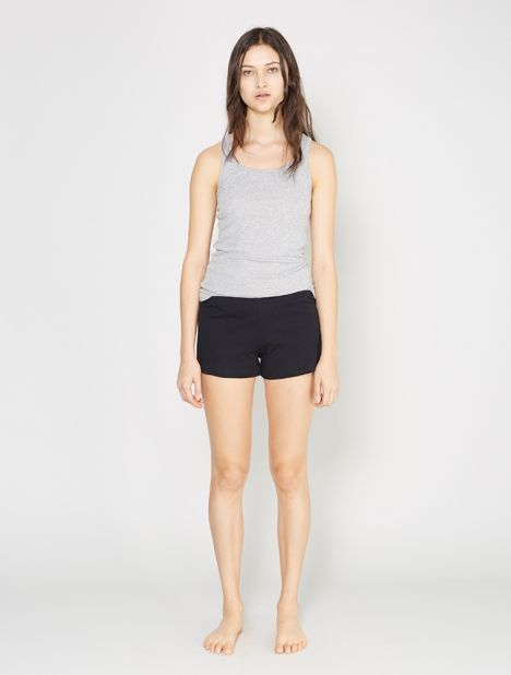 Orchid Cotton Shorts - Black