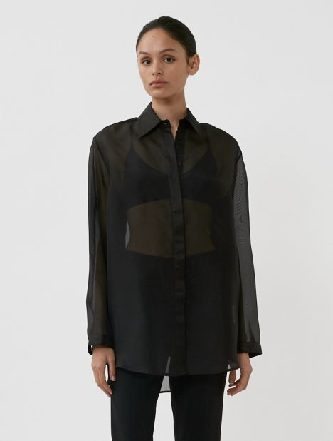 Silk Organza Oversized Shirt