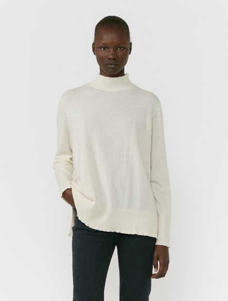Osaka Mock Neck Sweater - Off-White