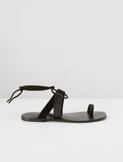 Paige Leather Sandal - Black
