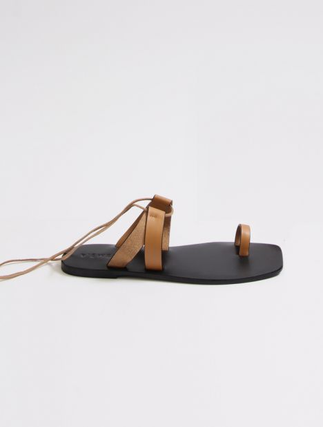 Paige Leather Sandal - Honey
