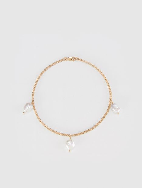 EXCLUSIVE | Pearl Charm Anklet