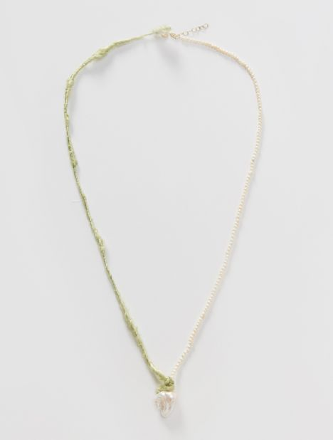 Mother of Pearl & Silk Yarn Necklace