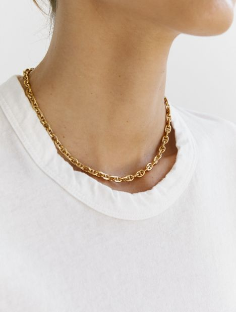 Short Pill Necklace - Gold