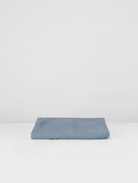 Linen Pillowslip Set - Lake Blue