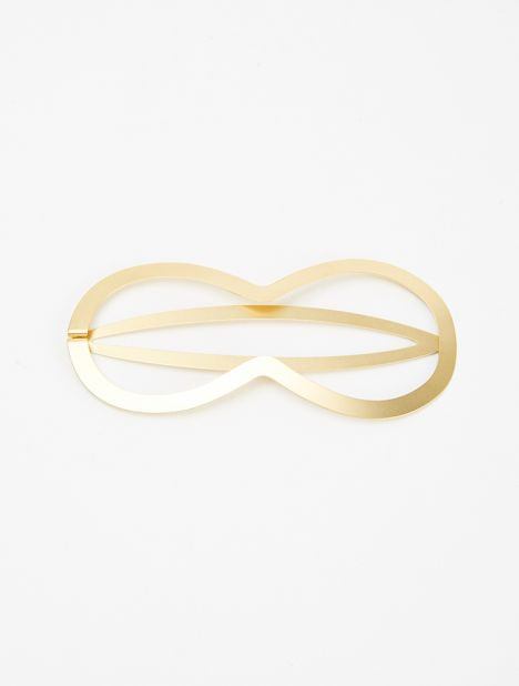 Pina Matte Gold-Plated Hair Clip