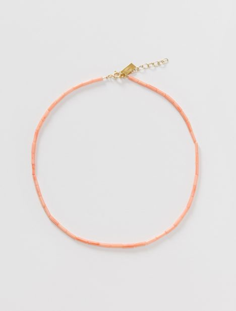 Hermina Tag Pink Coral Necklace