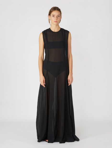 Full-Length Pleat Dress