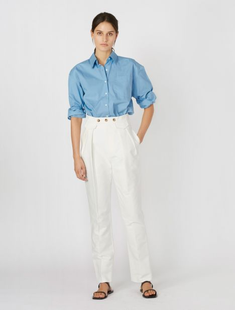 Cotton Pleat Tailored Pant