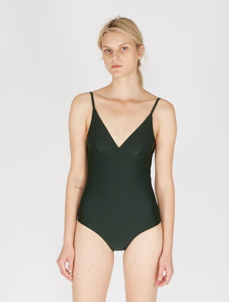 Plunge Maillot - Moss