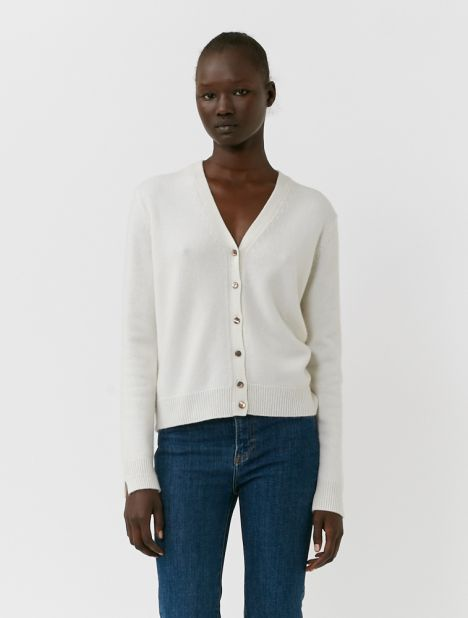 Queen's Cashmere Cardigan - Ivory