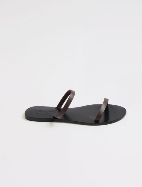 Quinn Leather Sandal - Chocolate