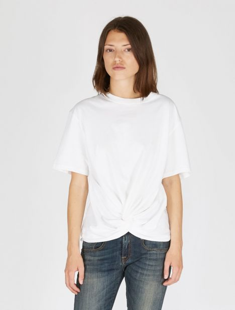 Twisted Front Cotton Tee