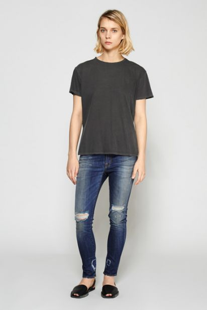 Slouch Skinny Jean - Vintage Blue Ripped