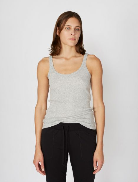 Raisa Organic Cotton Ribbed Tank - Grey