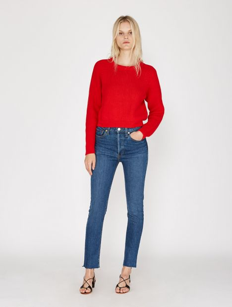 High Rise Ankle Crop Jean - Forever Rinse
