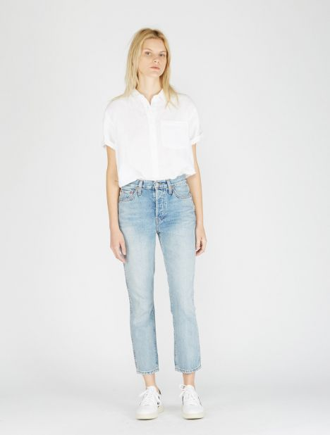 Originals Double Needle Crop Jean - Light Vain