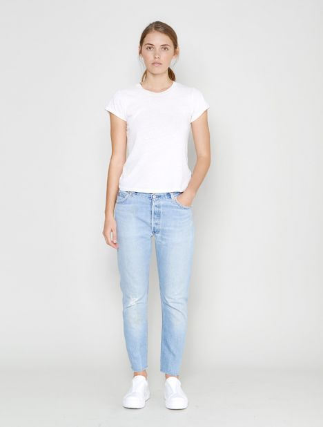 X Levis Relaxed Crop Jean - Light Blue
