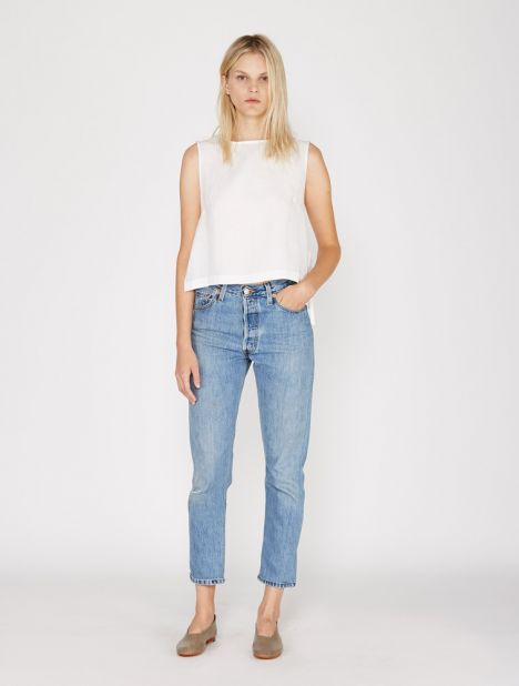 X Levis High Rise Ankle Crop Jean - Indigo